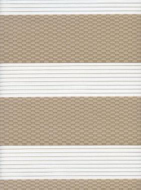Рулонные шторы UNI1-ZEBRA ТЕТРИС 2406, бежевый