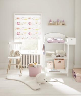Рулонные шторы MINI-ZEBRA ОБЛАКА 4096 розовый