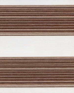 Рулонные шторы UNI2-ZEBRA ДАКОТА 2870, коричневый