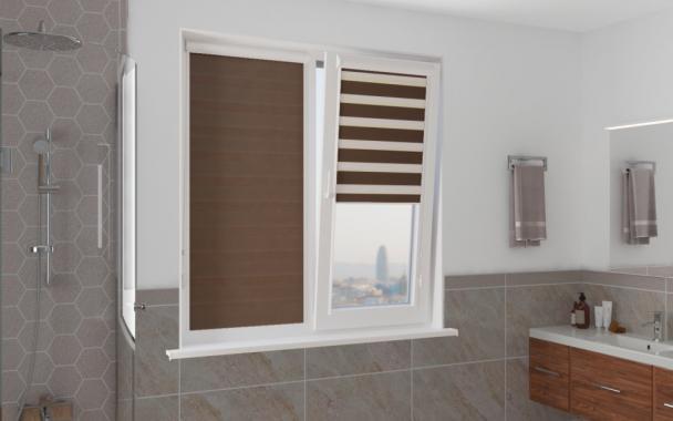 Рулонные шторы UNI1-ZEBRA СТАНДАРТ 2870 коричневый