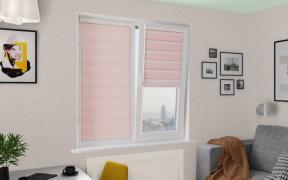 Рулонные шторы UNI1-ZEBRA СТАНДАРТ 4082 св.розовый 280 см ЗЕБРА