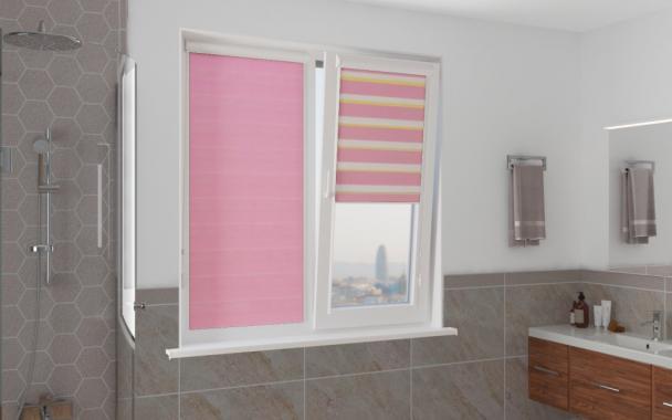 Рулонные шторы UNI1-ZEBRA СТАНДАРТ 4096 розовый