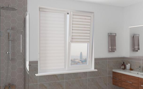 Рулонные шторы UNI2-ZEBRA АДАЖИО 0225, белый