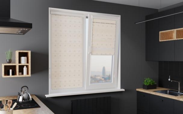 Рулонные шторы UNI1-ZEBRA ДАМАСК 0225, белый