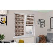 Рулонные шторы UNI1-ZEBRA ДАМАСК 2870, коричневый, 270 см ЗЕБРА