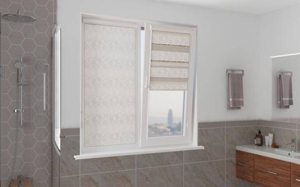 Рулонные шторы UNI1-ZEBRA ПЕРСИЯ 0225 белый