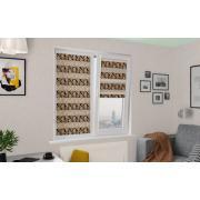 Рулонные шторы UNI1-ZEBRA ПЕРСИЯ 2870 коричневый, 270 см ЗЕБРА