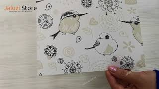Рулонные шторы UNI1 ПТИЧКИ 0225 цв.белый