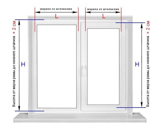 Замер окна рулонные шторы UNI-2